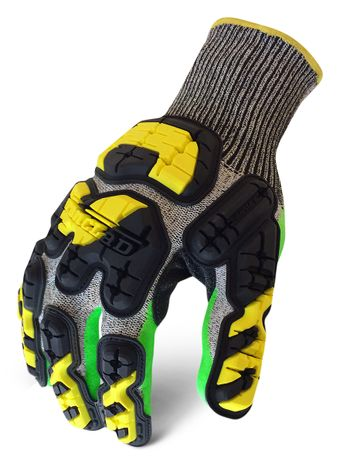 Ironclad INDI-KC5G Industrial Impact Knit Cut 5 Grip Gloves