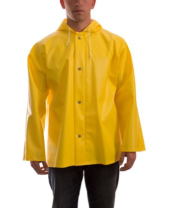 Tingley J31107 Webdri® Chemical Resistant Jacket - PVC Coated, Tear Resistant, with Attached Hood Front