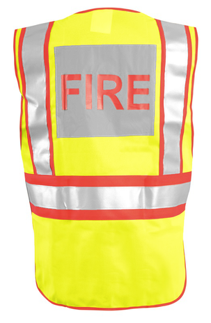 Occunomix Fire Safety Vest LUX-PSF - Public High-Visibility Back