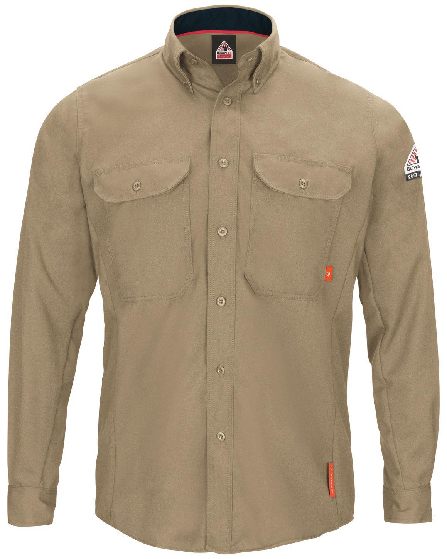 bulwark-fr-shirt-qs52-iq-series-comfort-woven-long-sleeve-lightweight-khaki-front.jpg