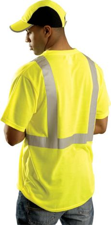 Lime Yellow Color Hi Vis T-Shirt - Occunomix Occulux LUX-SSTP2