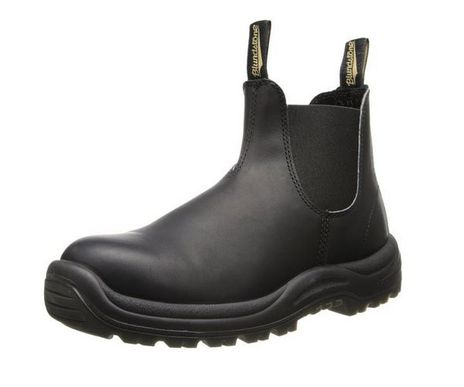 Blundstone 179 xTreme Safety Elastic Side Slip-On Steel Toe Boots - Puncture Resistant Sole Side View - Angle