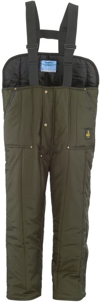RefrigiWear 0345 Iron-Tuff Insulated Work Overall Low Bib Sage Front