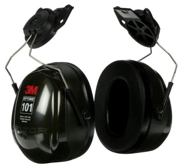 3M Peltor Optime 101 Ear Muffs H7P3E Cap Mounted Front