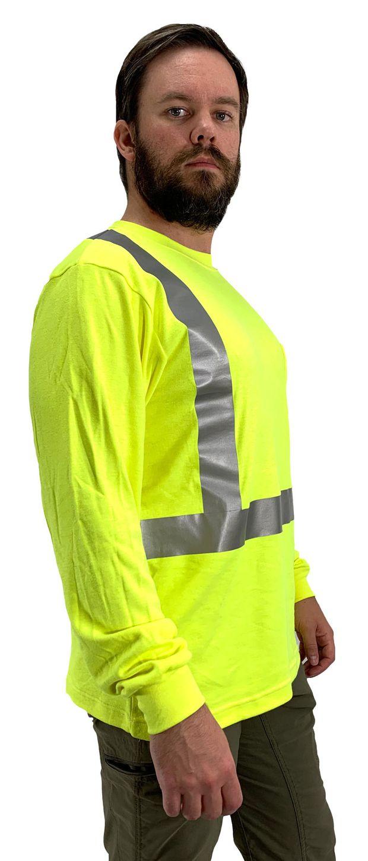 Occunomix Hi Vis FR Fire Retardant Arc Flash Long Sleeve Shirt - FR-TM2212 Side