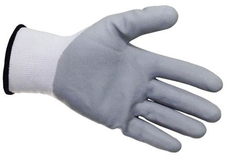 4Works HR1401 Nitrile Foam Nylong Gloves, Palm View