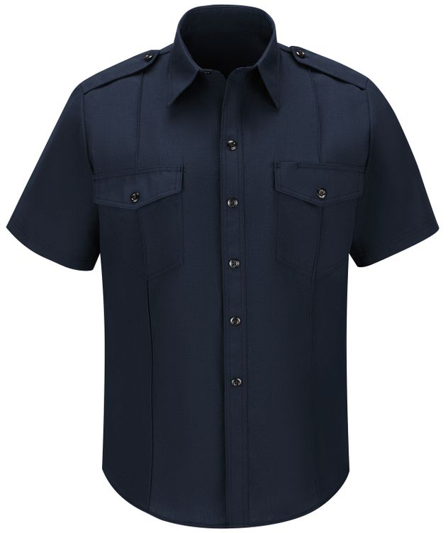 Workrite FR Shirt FSC6, Fire Chief, Classic Short Sleeve Midnight Navy Front