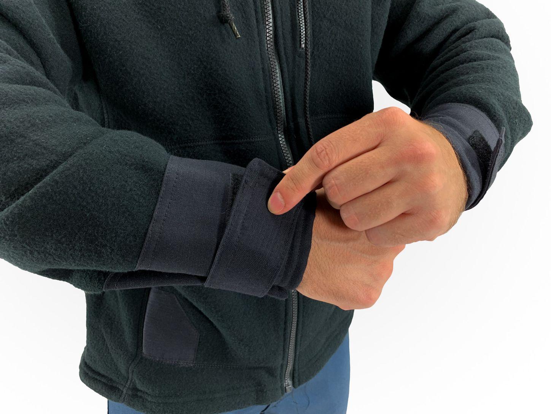 Bulwark FR Modacrylic Blend Fleece Hoodie SMH8 Front Zip Example