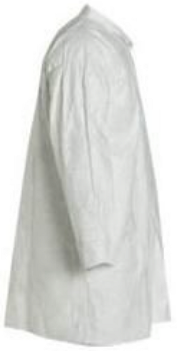 DuPont Tyvek Frock with Open Wrists & Front Snap Closure - TY210SWH Right Side