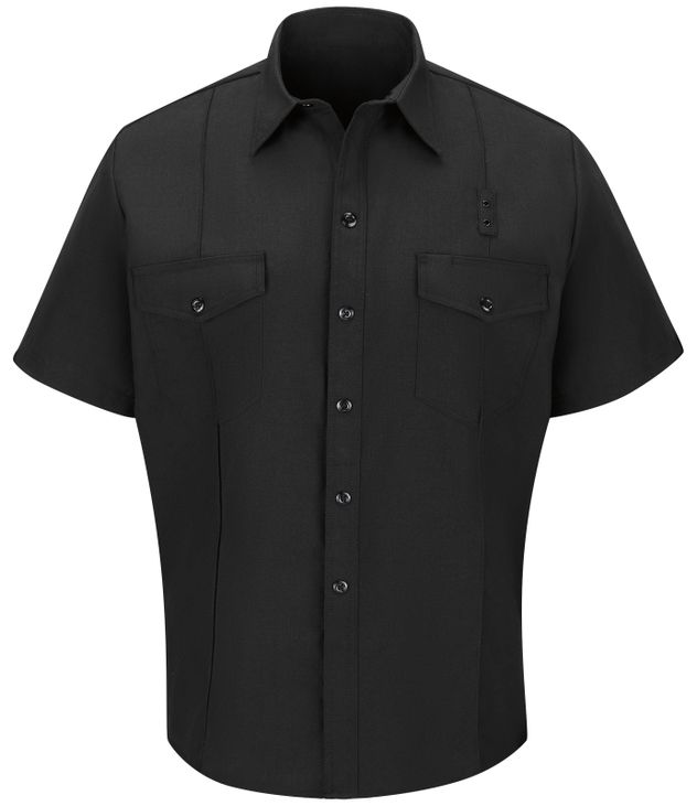 Workrite FR Firefighter Shirt FSF2 Classic Short Sleeve Black Front