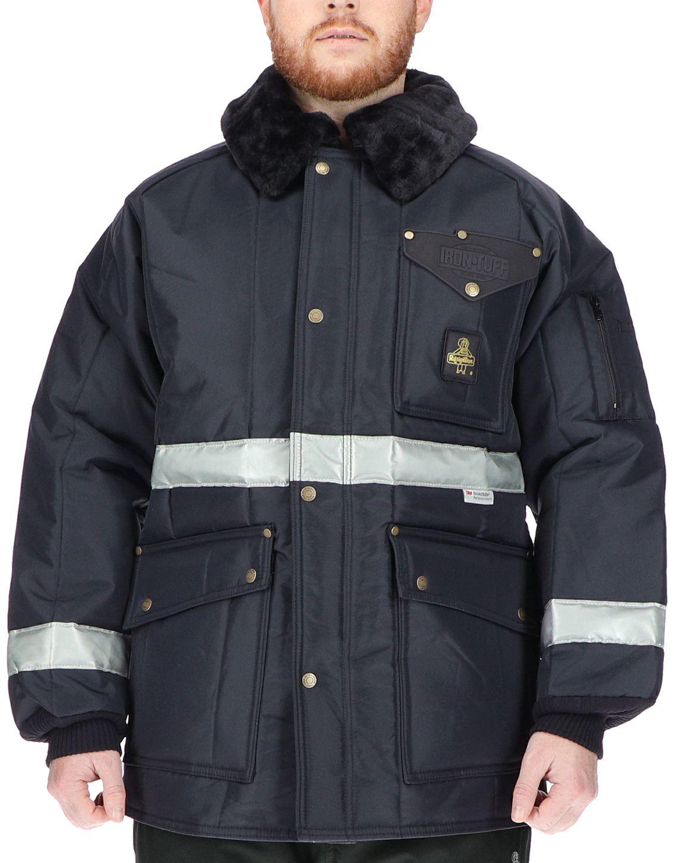 RefrigiWear 0343 Iron-Tuff Siberian Vinter Work Coat With Reflective Tape Example