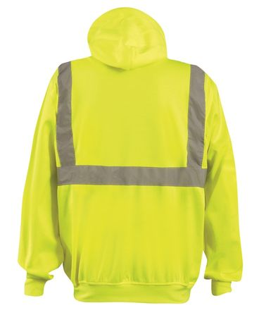 Occunomix Sweatshirt LUX-SWTLH Lightweight Hooded Pullover - High Visibility Back
