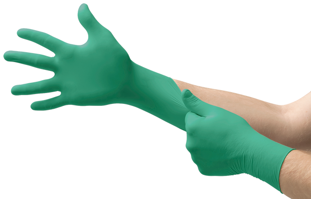 Ansell Touch N Tuff Nitrile Disposable Gloves 92-500 - Lightly Powdered