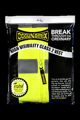 Occunomix Class 2 Solid Standard Vest With Zipper