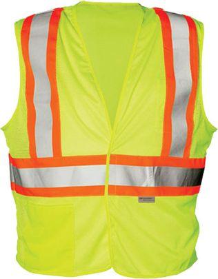 OK-1 Safety Vest OK-ILDOTM - Contrasting Stripe Class 2 Mesh Polyester