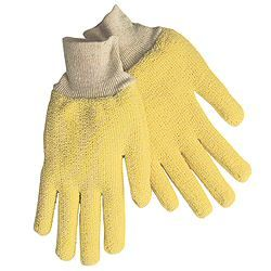 These terrycloth gloves made of 100% Kevlar for superior cut resistance feature knit wrists and loopout design.