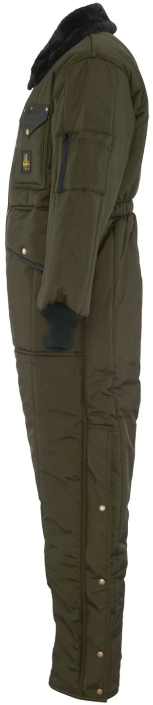 RefrigiWear 0344 Iron-Tuff Insulated Work Coverall Sage Left