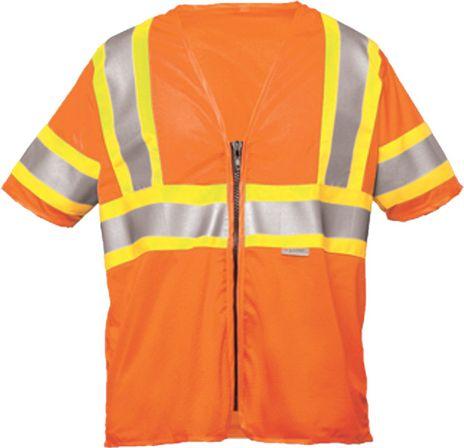 OK-1 Safety Vests ODOT3MZ-04 in Orange