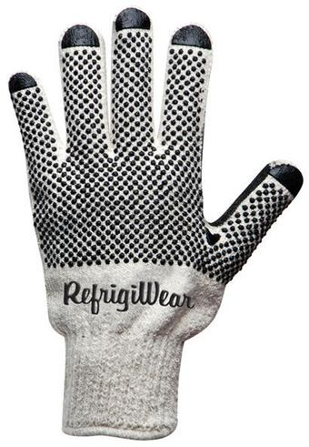 RefrigiWear Cold Weather Apparel - Dot Grip Glove 0310 - Natural