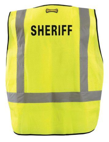 Occunomix LUX-PSS-DOR Mesh Public Safety Break-Away Vest w/DOR, Sheriff Back