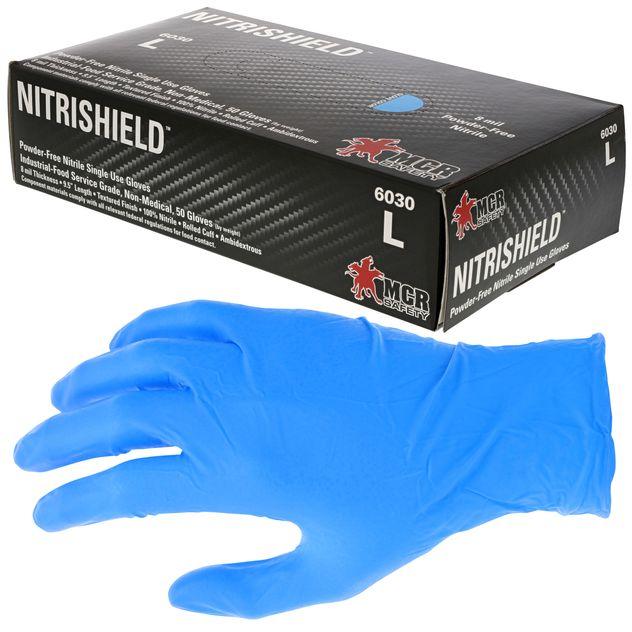 MCR Safety NitriShield Nitrile Disposable Glove 6030 Powder-Free