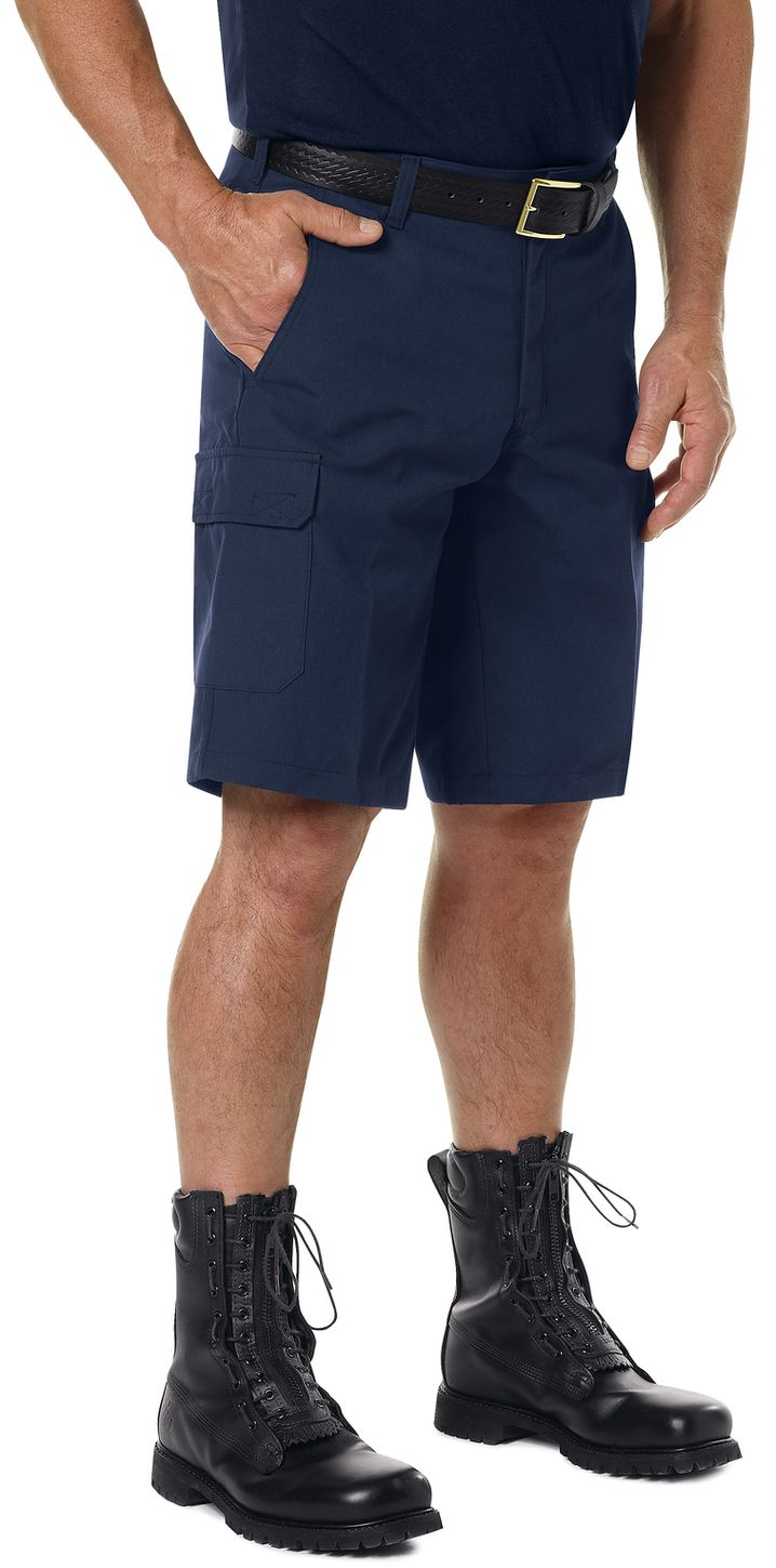 Workrite FR Cargo Shorts FP42, Classic 12-Inch Navy Example Right