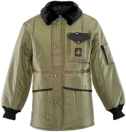 RefrigiWear 0342 Iron-Tuff Jackoat Cold Weather Work Coat Sage Front