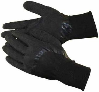 black latex coated gloves knuckles hs3309