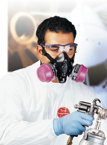 North 770030 Respirator - View in Use