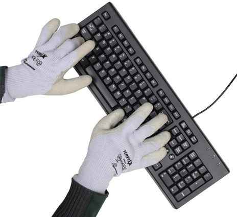 Superior Latex Palm Winter Insulated Gloves with Keyboard