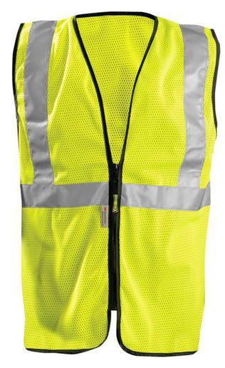 Occunomix LUX-SSGZC Mesh Standard Hi-Viz Vest With Zipper Front