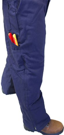 Tool Pocket View - Workrite 588UT11 Fire Retardant Bib Ovealls