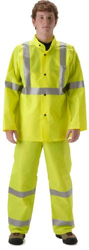 nasco worklite yellow hi viz lightweight tear resistant rainproof suit jacket