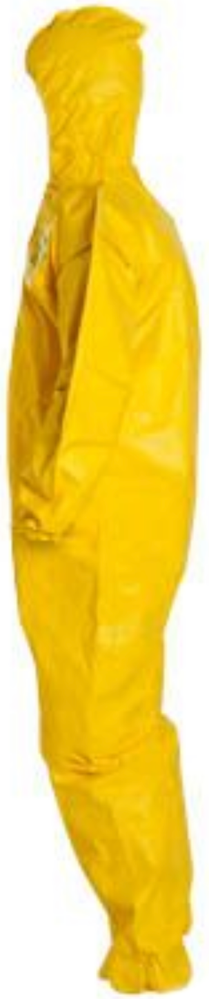DuPont Tychem QC Coverall with Hood & Elastic Wrists & Ankles - QC127 Left Side