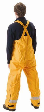 nasco mp3 flash fire arc rated breathable rain bib pants back side