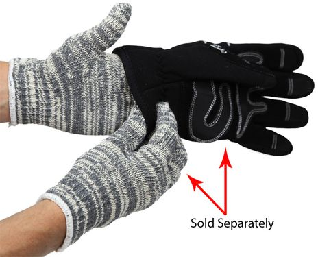 RefrigiWear 0205 Multicolor Knit Work Glove Liners - Layering Example