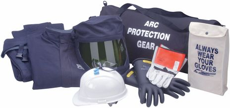 40 Cal Arc Flash Suit Kit with Jacket and Bib Overall, Category 4