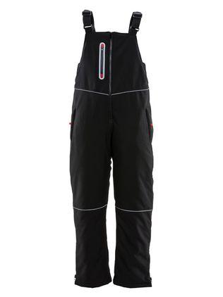 refrigiwear-7123-women's-insulated-softshell-bib-overalls-blk-front