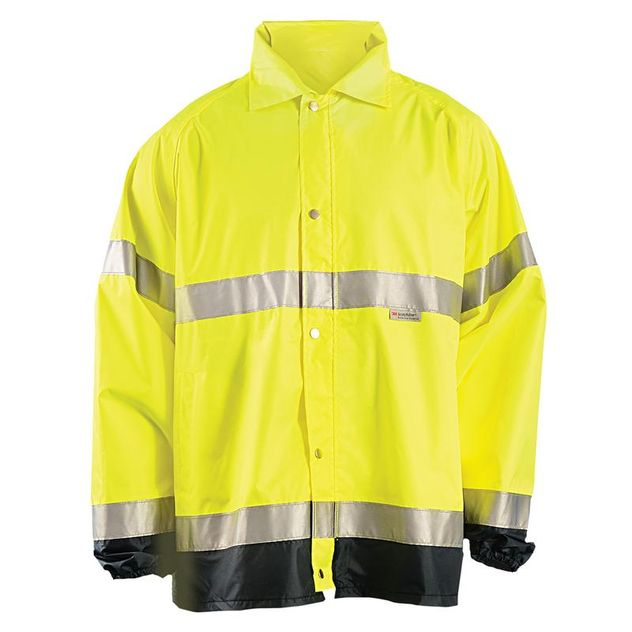Occunomix OccuLux Hi-Vis Rain Jacket LUX-TJR Front Yellow