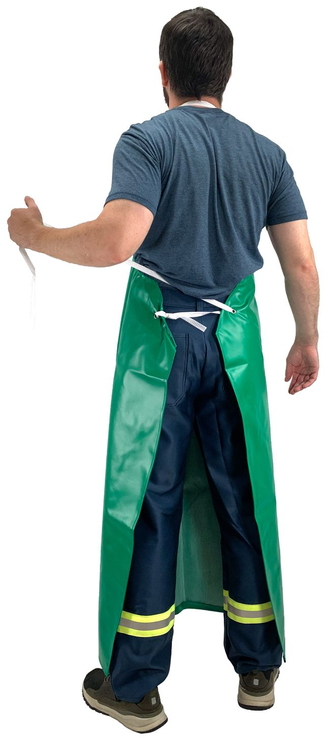 Tingley A41008 Safetyflex® Flame Resistant Apron - PVC Coated, Chemical Resistant Back
