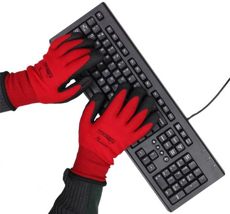 Cold Weather Insulated Nylon Gloves with PVC Coated Palms - Superior
