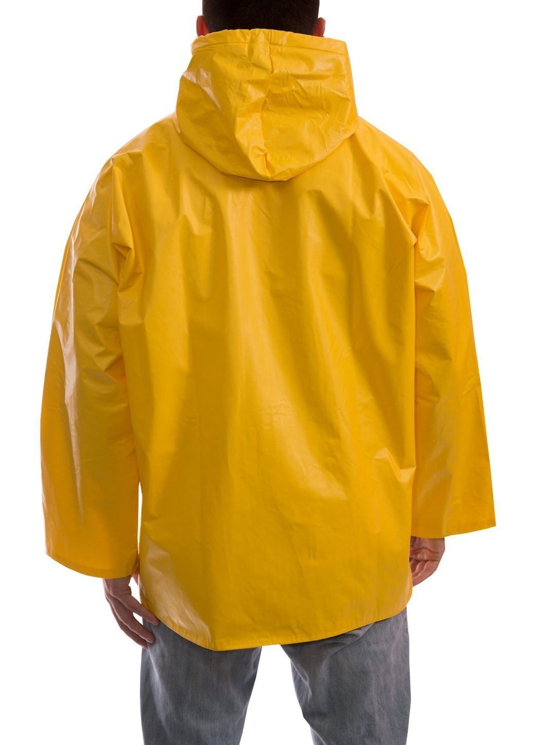 Tingley J32107 PVC Coated Work Jacket - with Attached Hood Back