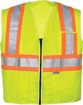OK-1 Polyester Safety Vest 5050503 in Yellow
