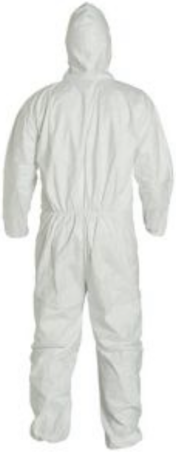 DuPont Tyvek Disposable Suit with Hood & Elastic Wrists & Ankles - TY127SWH Back