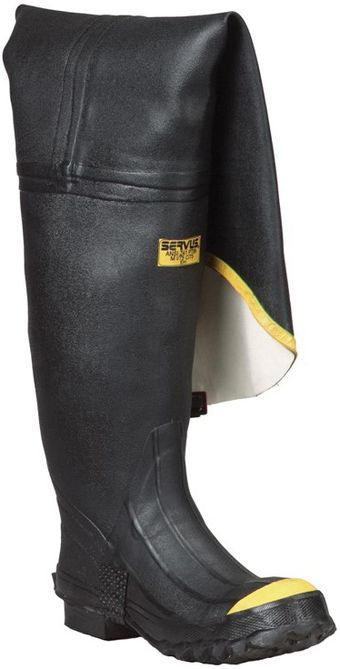 North Safety T112/T112-BLM Servus Steel Toe Rubber Hip Boots