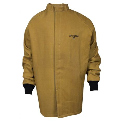 National Safety Apparel Arc Flash Suit KIT4SC65 65 Calorie With Jacket And Bib Overall HRC 4 Coat Bright