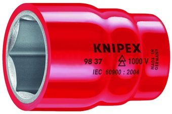 "Knipex Tools Inch-Sized Insulated Hexagon Sockets For 3/8"" Driver"