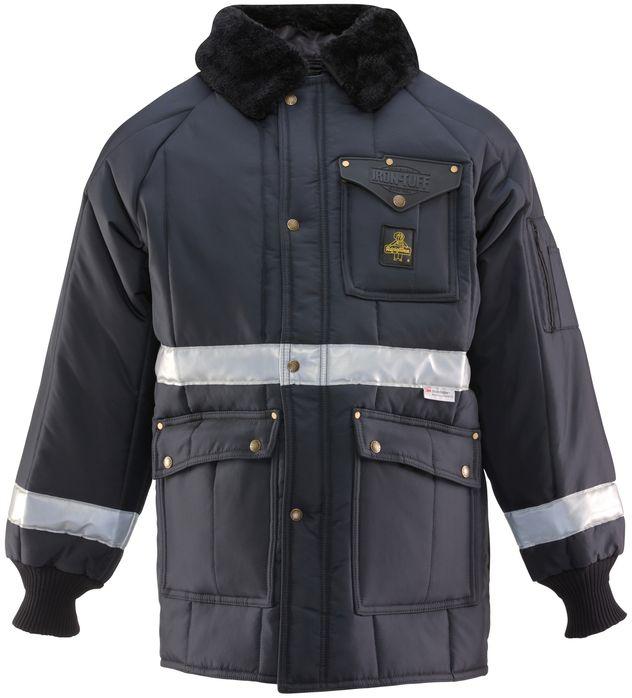 RefrigiWear 0343 Iron-Tuff Siberian Vinter Work Coat With Reflective Tape Front