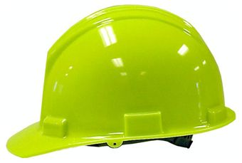 Bullard S51R High Density Polyethylene Hi-Viz Green Hard Hat
