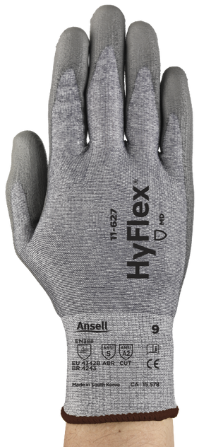 Ansell Hyflex Protective Safety Gloves 11-627 - PU Coated Dyneema Cut